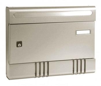 Cassetta Postale Alubox SIRE componibile 29x36,5x7 cm in Alluminio colore Argento