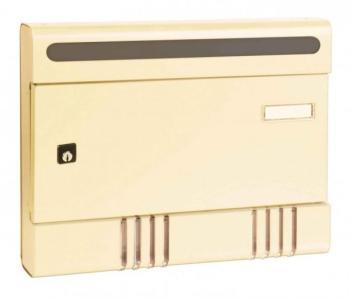 Cassetta Postale Alubox SIRE componibile 29x36,5x7 cm in Alluminio colore Avorio