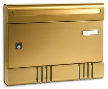Cassetta Postale Alubox SIRE componibile 29x36,5x7 cm in Alluminio colore Bronzo