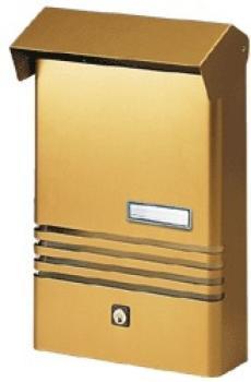 Cassetta Postale Alubox XE 20x30x6 cm Alluminio Bronzo