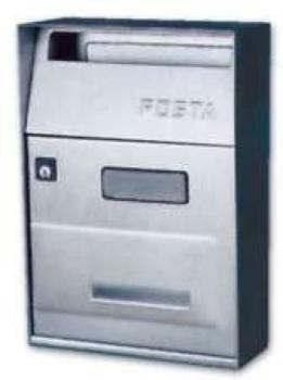 Cassetta Postale Alubox EFFE 1 21x30.5x9.5 cm modello senza tetto in acciaio inox colore Argento