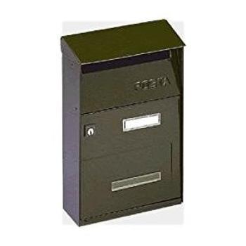 Cassetta Postale Alubox EFFE T 22x32.5x11 cm modello con tetto in lamiera elettrozincata verniciato Ghisa