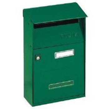 Cassetta Postale Alubox EFFE T 22x32.5x11 cm modello con tetto in lamiera elettrozincata verniciato Verde