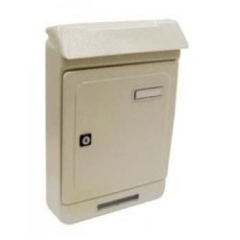 Cassetta Postale Alubox UNO MAXI formato rivista 26,3x39.5x7 cm in lamiera zincata verniciata colore Avorio