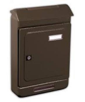 Cassetta Postale Alubox UNO MAXI formato rivista 26,3x39.5x7 cm in lamiera zincata verniciata colore Ghisa