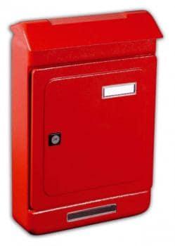 Cassetta Postale Alubox UNO MAXI formato rivista 26,3x39.5x7 cm in lamiera zincata verniciata colore Rosso