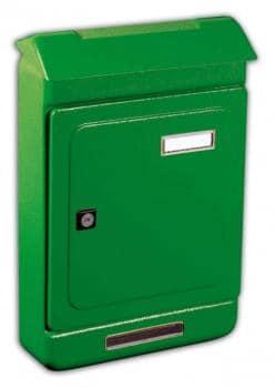 Cassetta Postale Alubox UNO MAXI formato rivista 26,3x39.5x7 cm in lamiera zincata verniciata colore Verde