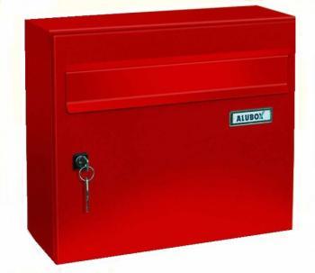 Cassetta Postale Alubox GIOVE formato rivista 32x37x15,5 cm Lamiera elettrozincata colore Rosso