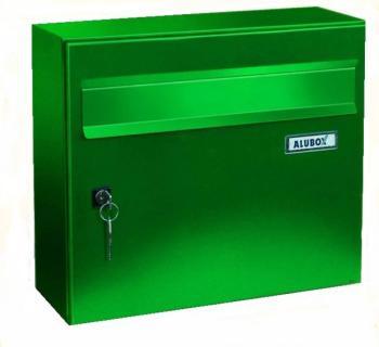 Cassetta Postale Alubox GIOVE formato rivista 32x37x15,5 cm Lamiera elettrozincata colore Verde