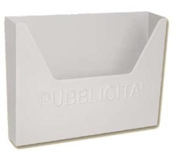 Cassetta Postale Alubox HELLAS MAXI pubblicità 32,5x44x10 cm in Lamiera elettrozincata colore Bianco