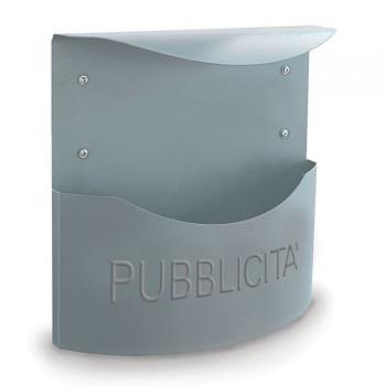 Cassetta Postale Alubox MARSUPIO pubblicità 34,5x34,8x12,5 cm in Lamiera zincata colore Argento