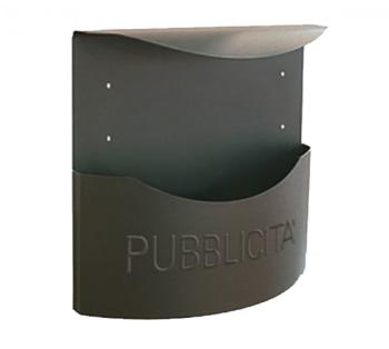Cassetta Postale Alubox MARSUPIO pubblicità 34,5x34,8x12,5 cm in Lamiera zincata colore Ghisa