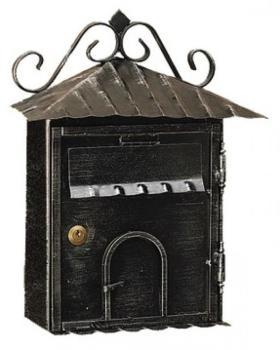Cassetta Postale Alubox RUSTICA formato rivista 43x33x12 cm in Ferro battuto colore Nero
