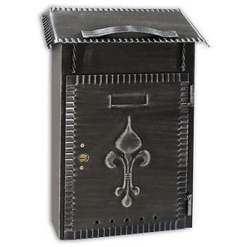 Cassetta Postale Alubox RUSTICA formato rivista 39x28x12,5 cm in Ferro battuto colore nero