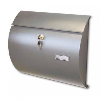 Cassetta Postale Alubox SATURNO formato rivista 32,5x37,5x11 cm Lamiera elettrozincata colore Argento
