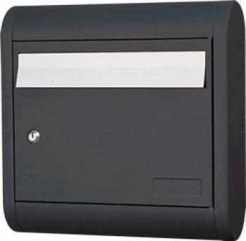 Cassetta Postale Alubox SOLE formato rivista 39.5x39.5x12 cm in Alluminio colore Ghisa