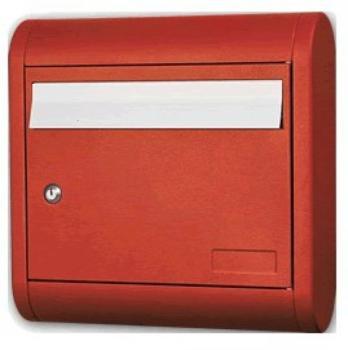 Cassetta Postale Alubox SOLE formato rivista 39.5x39.5x12 cm in Alluminio colore Rosso