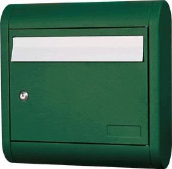 Cassetta Postale Alubox SOLE formato rivista 39.5x39.5x12 cm in Alluminio colore Verde