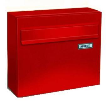 Cassetta Postale Alubox VENERE formato rivista 32x37x15,5 cm Lamiera elettrozincata colore Rosso