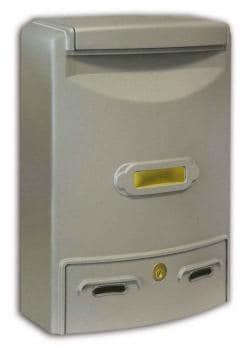 Cassetta Postale Alubox EUROPA MAXI formato rivista 29x39x10 cm in Alluminio colore Argento
