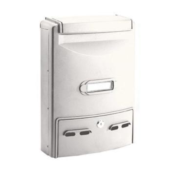 Cassetta Postale Alubox EUROPA MAXI formato rivista 29x39x10 cm in Alluminio colore Bianco