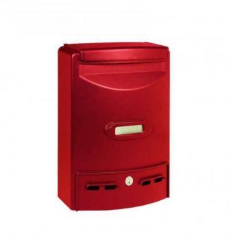 Cassetta Postale Alubox EUROPA MAXI formato rivista 29x39x10 cm in Alluminio colore Rosso