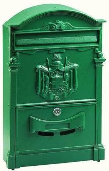 Cassetta Postale RESIDENCE MAXI formato rivista 46x30x9,5 cm in Alluminio colore Verde