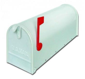 Cassetta postale Alubox serie TOPOLINO 32x48x17 cm in Lamiera zincata colore Bianco