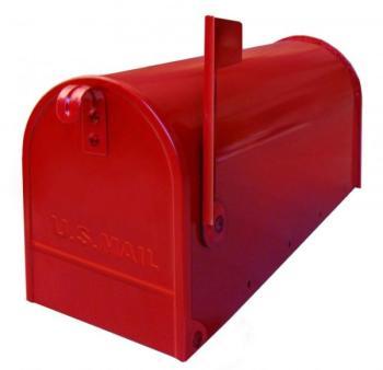 Cassetta postale Alubox serie TOPOLINO 32x48x17 cm in Lamiera zincata colore Rosso