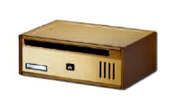Cassetta Postale Alubox CUBO RIVISTA orizzontale componibile 35x12x25 cm in Alluminio colore Bronzo