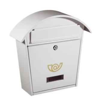 Casetta Postale Alubox CHALET formato rivista 37x36,5x10,5 cm in Lamiera zincata colore Bianco