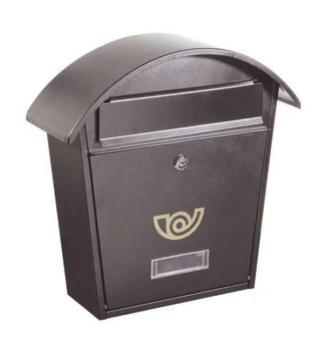 Casetta Postale Alubox CHALET formato rivista 37x36,5x10,5 cm in Lamiera zincata colore Ghisa