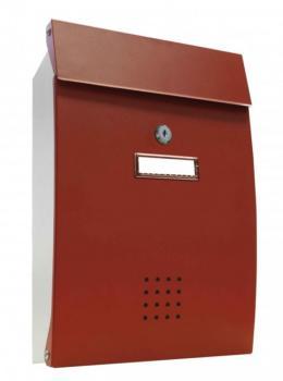 Cassetta Postale Alubox PECHINO formato rivista 26x38.2x7 cm in lamiera zincata verniciata Rosso e Bianco