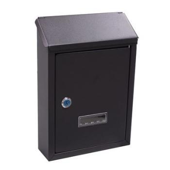 Cassetta Postale Alubox PRIMA 21.5x30.5x6.5 cm in lamiera zincata verniciata Nero