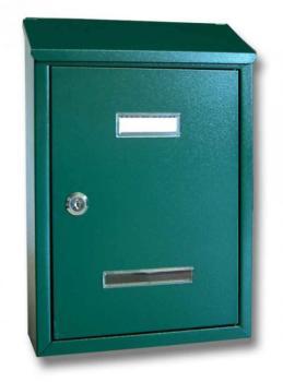 Cassetta Postale Alubox PRIMA MAXI formato rivista 24.5x36x7 cm in lamiera zincata verniciata Verde