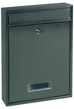 Cassetta Postale Alubox QUADRA serie componibile, formato rivista 26.5x35x8 cm in lamiera zincata verniciata Ghisa