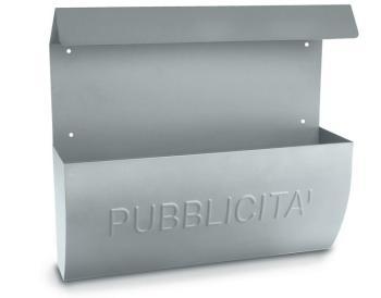 Cassetta Postale Alubox RECLAME pubblicità 31x31x10 cm in Lamiera zincata colore Argento