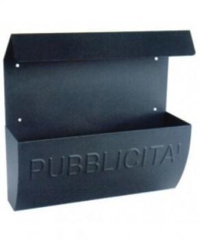 Cassetta Postale Alubox RECLAME pubblicità 31x31x10 cm in Lamiera zincata colore Ghisa