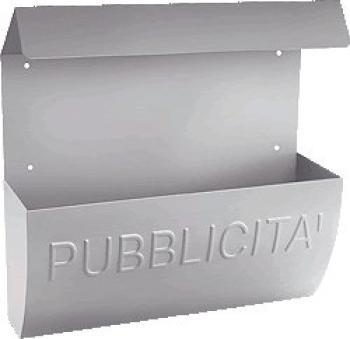 Cassetta Postale Alubox RECLAME MAXI pubblicità 35x38x10 cm in Lamiera zincata colore Argento