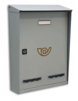 Cassetta Postale Alubox SIRIO formato rivista 28x38,5x11 cm Lamiera elettrozincata colore Argento