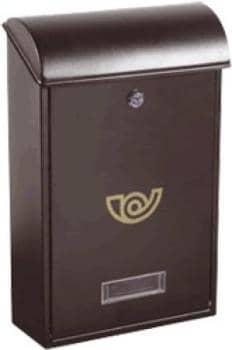 Cassetta postale Alubox VILLA formato rivista 25x40.5x10 cm in lamiera zincata verniciata Ghisa
