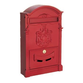 Cassetta Postale RESIDENCE formato rivista 41x26x9 cm in Alluminio colore Rosso