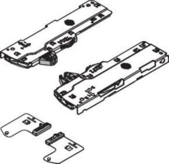 Set Unità Blum T60L7140 TIP-ON BLUMOTION e Meccanismo di Trascinamento