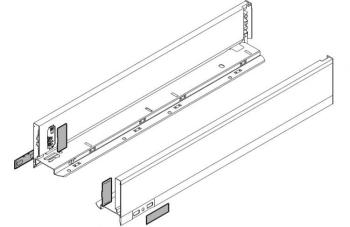 Set spondine Blum lunghezza nominale 400 mm 770M4002S Bianco seta opaco