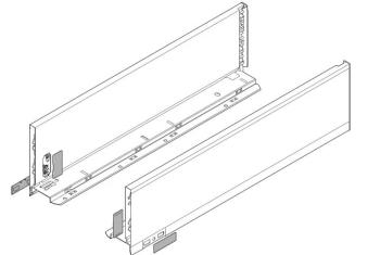 Set spondine Blum lunghezza nominale 350 mm 770K3502S Grigio orione opaco