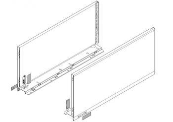 Set spondine Blum lunghezza nominale 650 mm 770F6502S Bianco seta opaco