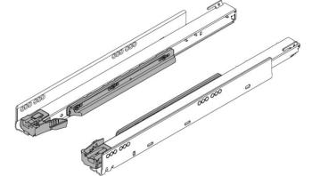 Giude fianco sinistra/destra Blum lunghezza nominale 550 mm 750.5501B 40 Kg