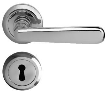 Bal Becchetti  maniglia per porta interna con rosetta bocchetta cromo satinato