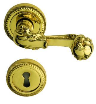 Bal Becchetti maniglia per porta interna con rosetta bocchetta Ottone lucido verniciato