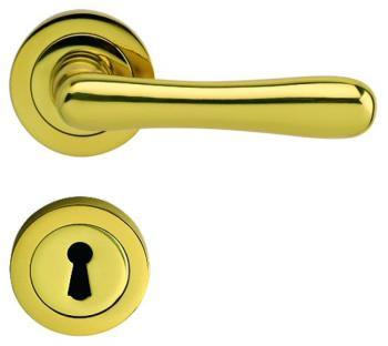Bal Becchetti maniglia per porta interna con rosetta bocchetta ottone lucido